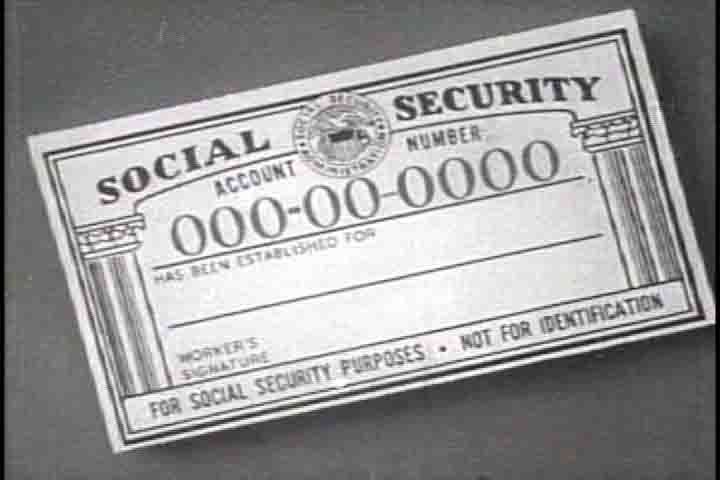 A Card That Was Created In  For The Social Security Act To