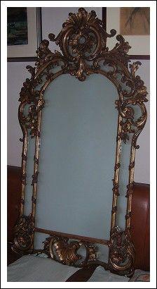 specchiera barocca piemontese in foglia d\'argento | Antiques ...
