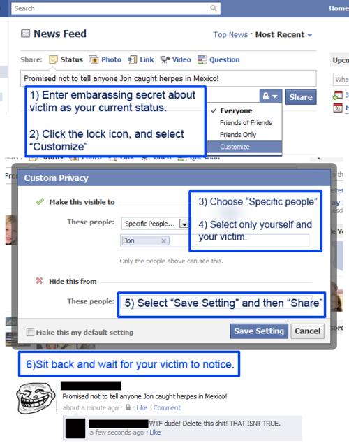 Facebook prank! Pranks, Practical jokes, Bones funny