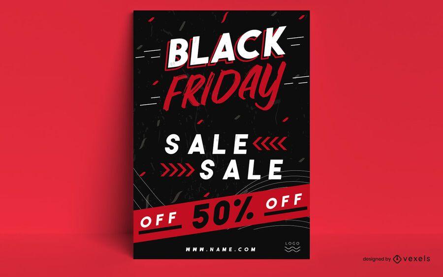 Black Friday Promo Poster Design Ad Friday Black Poster Design Promo In 2020 Black Friday Poster Black Friday Sale Poster Black Friday Design