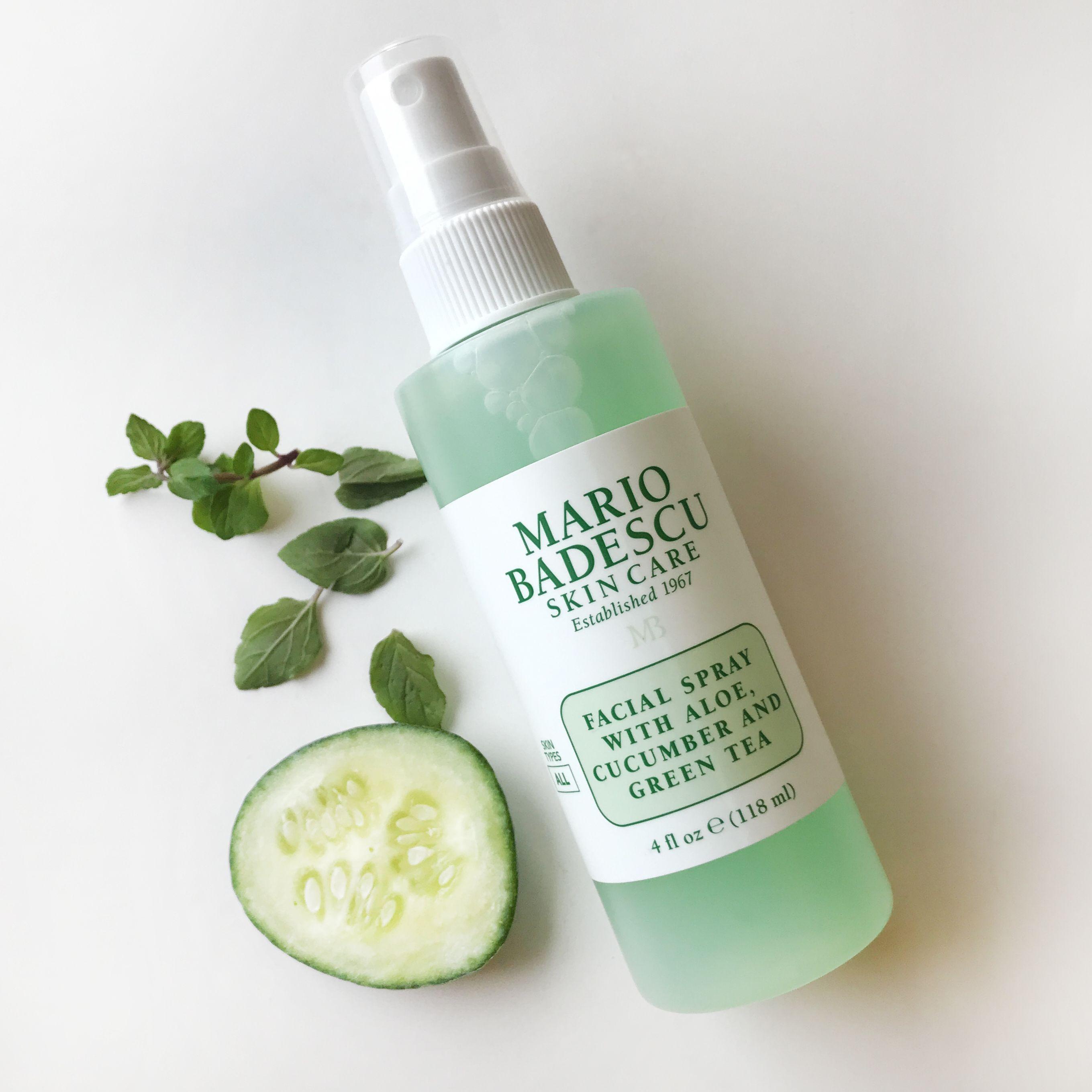 Facial Spray With Aloe Cucumber And Green Tea Skin Care