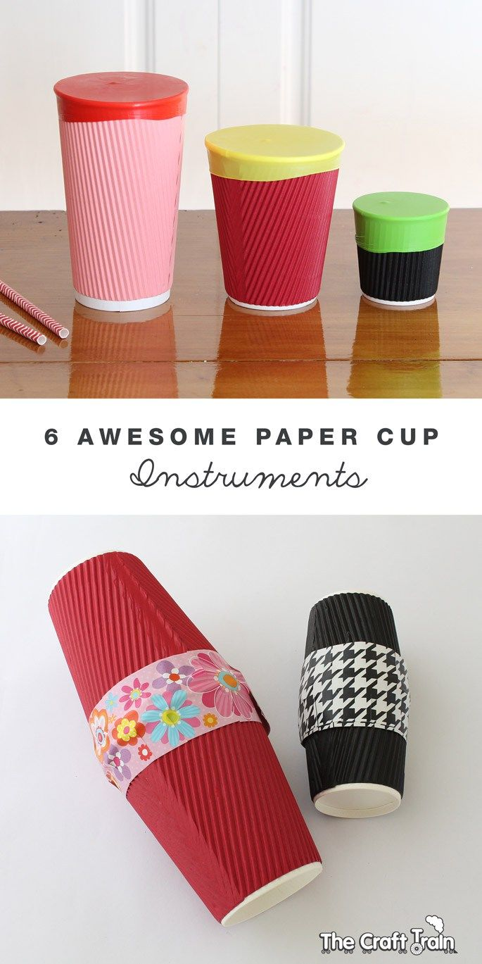 Six awesome paper cup instruments Instrument craft
