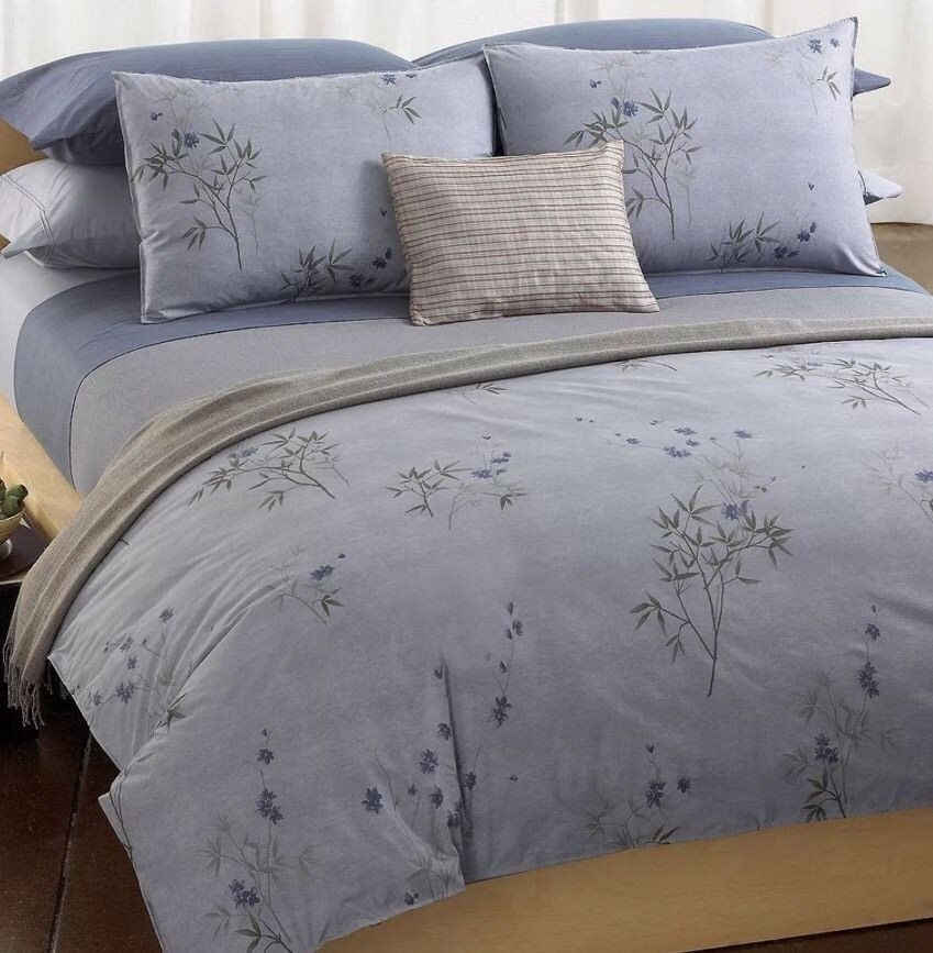 Calvin Klein Home Full Queen Comforter Bamboo Flowers New Calvin Klein Bedding Home King Bed Sheets