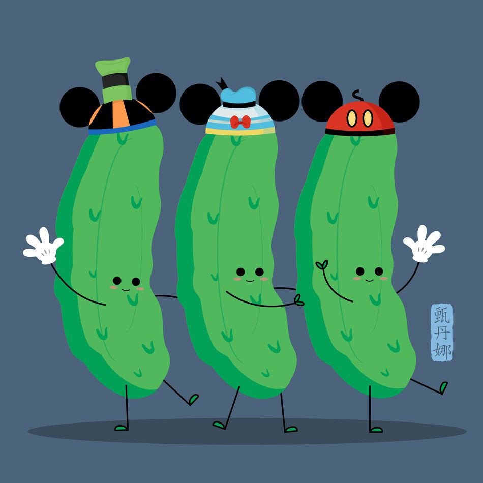 The Three Pickles #disneylandfood