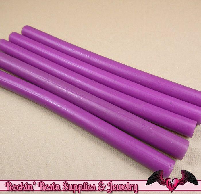 5 Purple Mini Hot Glue Sticks Deco Sauce Fake Icing Nail Art