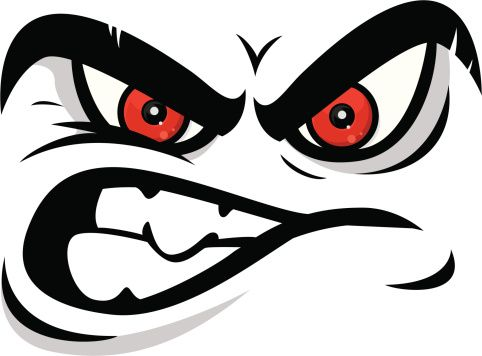 Angry Looking Cartoon Face Looking Straight At You Angry Cartoon Face Cartoon Faces Angry Cartoon
