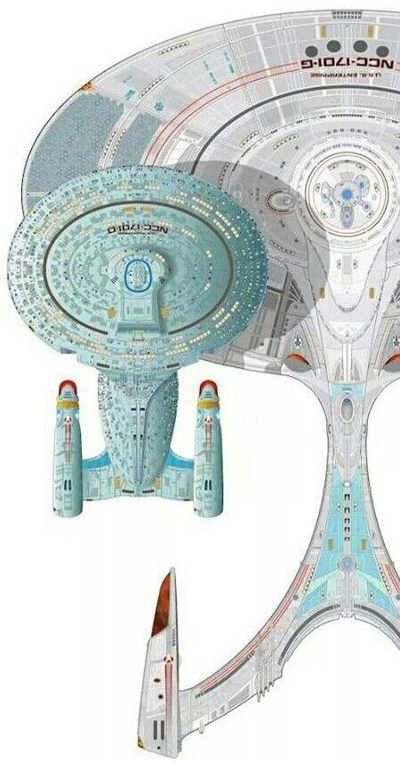 Enterprise G. She's a big mother. Trekkies around the world