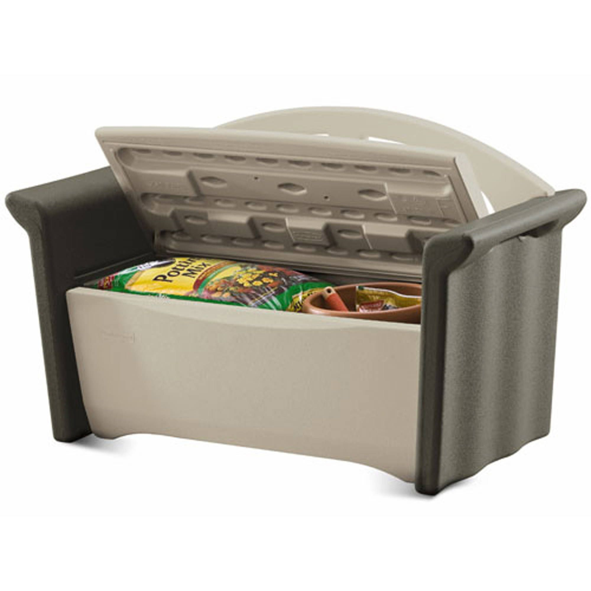 Spruce up your outdoor furniture with the practical and functional Rubbermaid  Patio Storage Bench  ThisSpruce up your outdoor furniture with the practical and functional  . Rubbermaid Exterior Storage Containers. Home Design Ideas