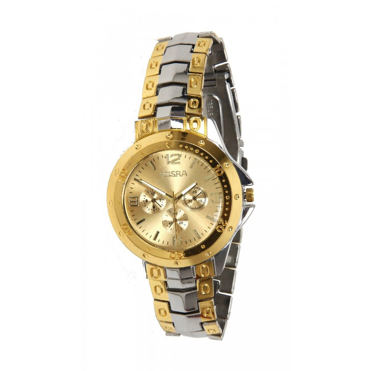 Stylish rosra analog silver metal wrist watch