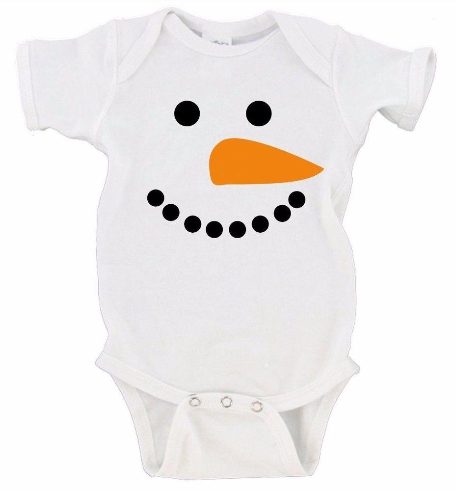 Snowman Winter Gift Merry Christmas Gerber Onesie   Christmas onesie ...