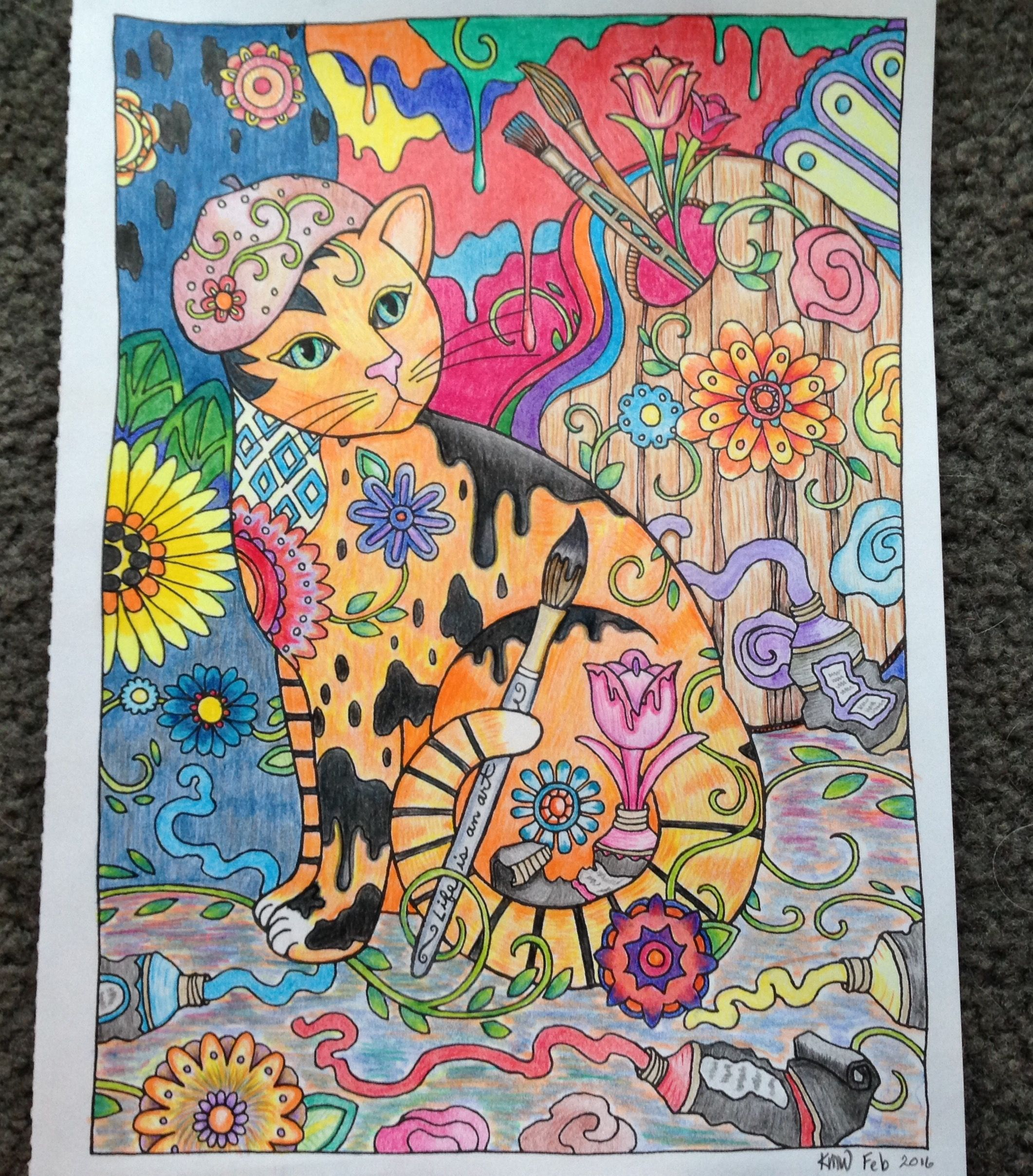 Creative Cats picture (Marco Raffine colored pencils) from ...