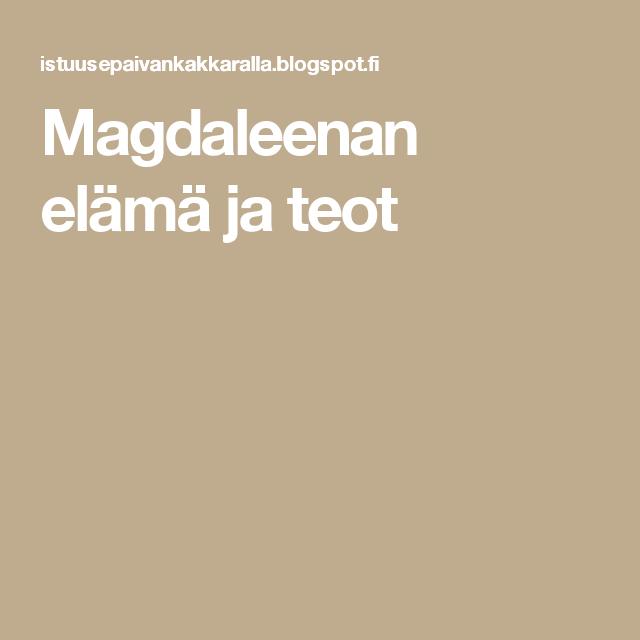 Magdaleenan elämä ja teot