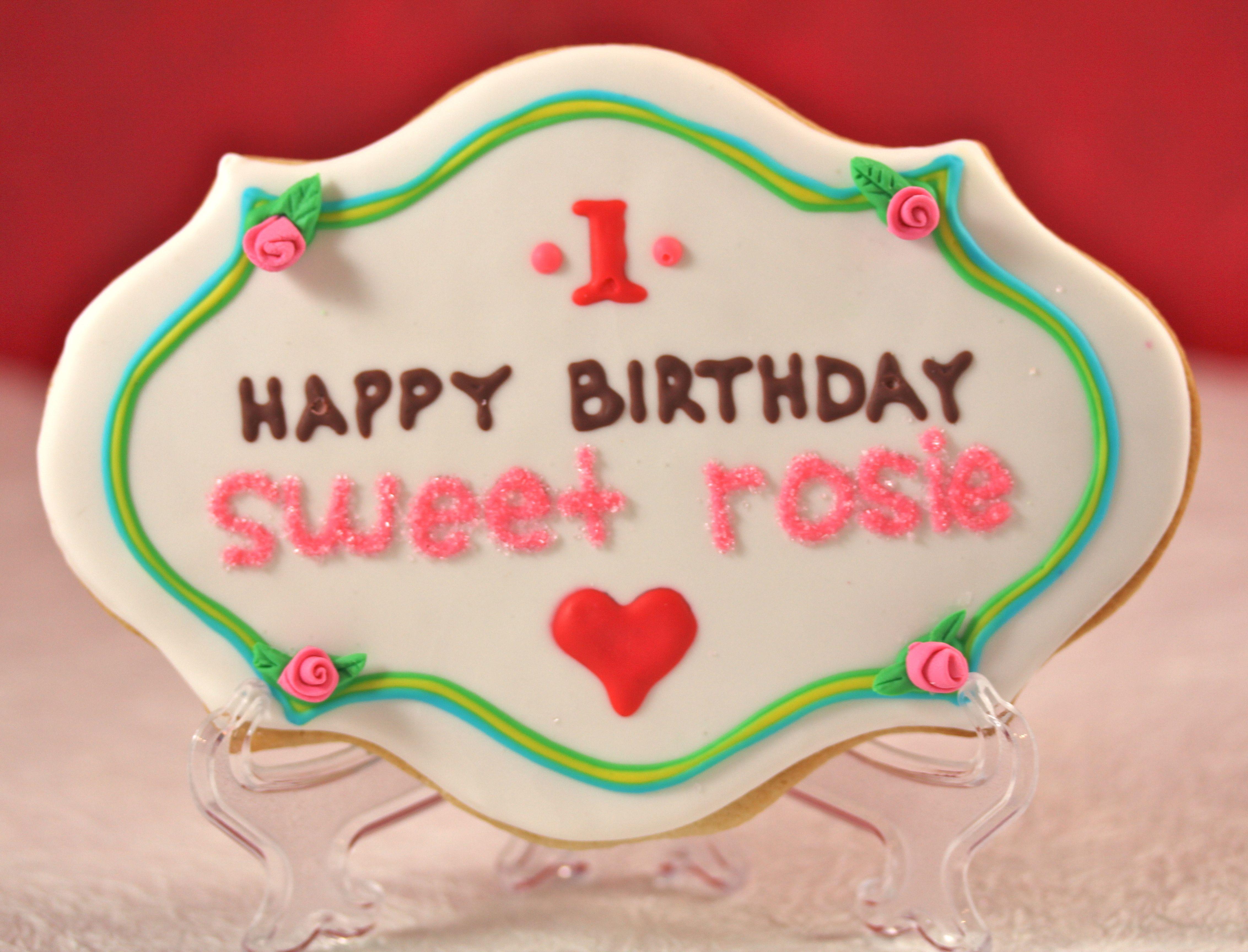 Birthday Plaque Hopes Cookies Cookie Cake Birthday Happy Birthday