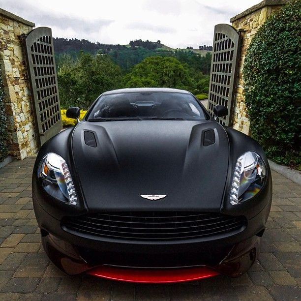 Aston Martin Vanquish Q Series In Matte Black And Red