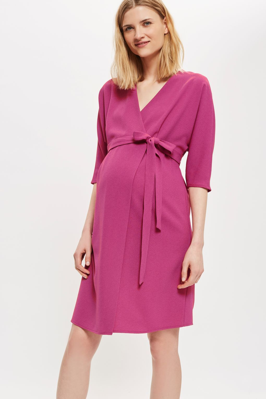 MATERNITY Wrap Midi Dress - Sale Clothing