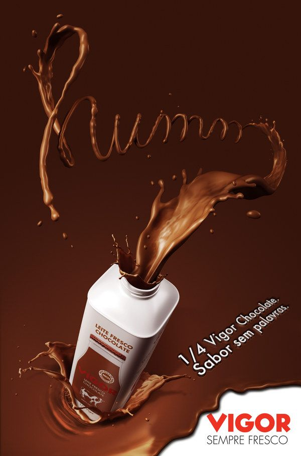Poster chocolate flavoured milk on Behance | Food & Drink ...