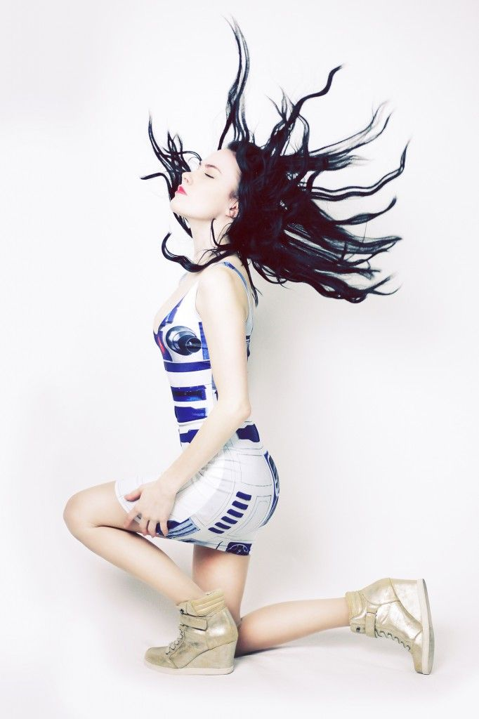 R2D2 dress by Black Milk Clothing  Self-portrait by Niamh Ellen