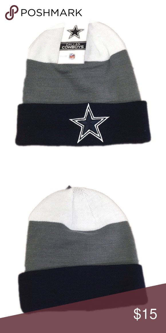 87857af1aaf Dallas Cowboys NFL Beanie Hat Cap Brand new with tags officially licensed Dallas  Cowboys Beanie Hat NFL Accessories Hats