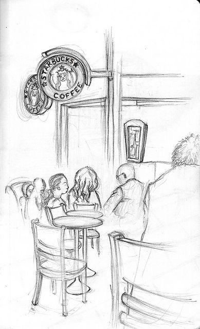 Istanbul Starbucks Coffee Capitol Mall Starbucks Drawing Urban Sketching Drawings