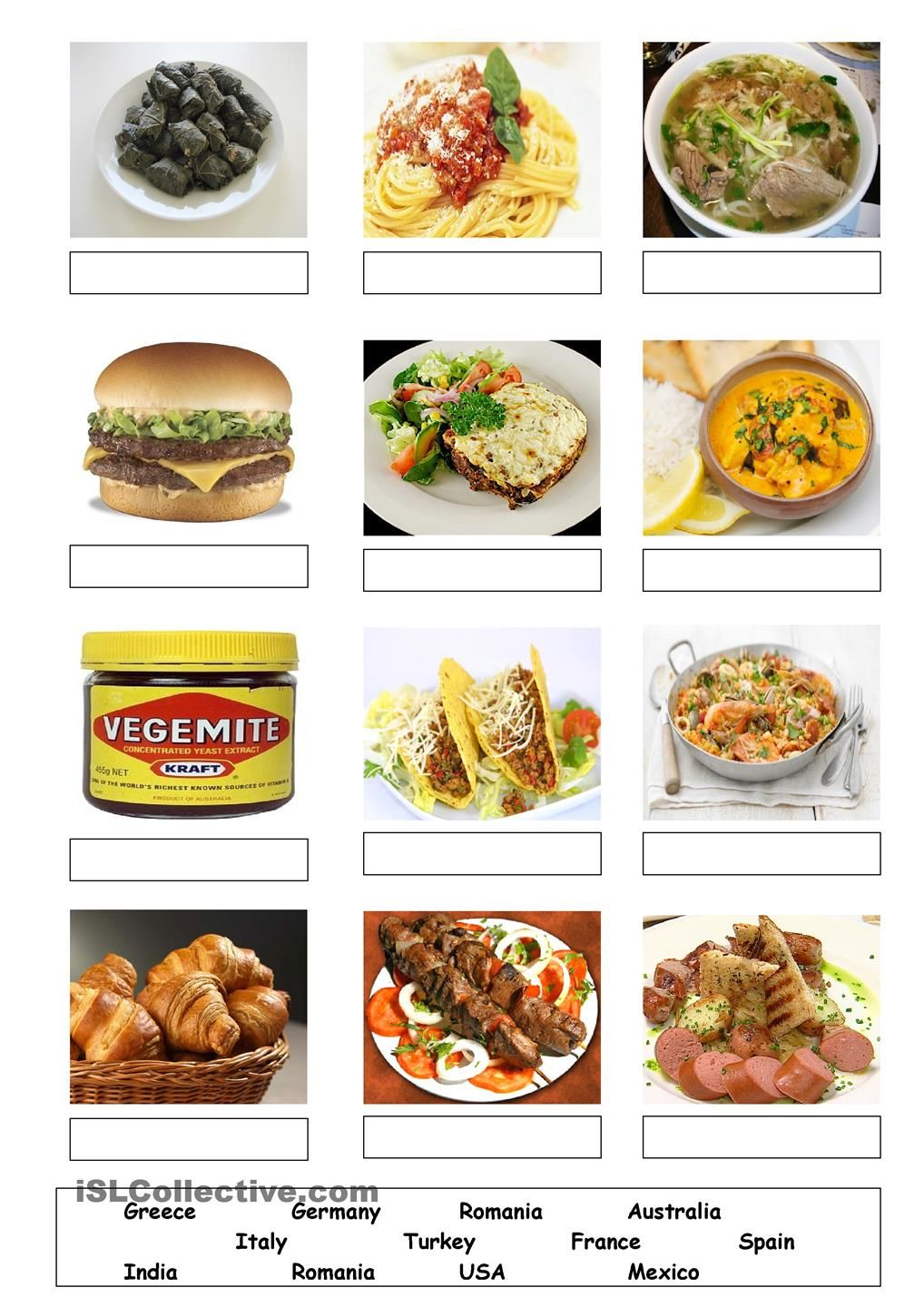 Countries And Food Food Pinterest Worksheets