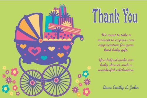 1000+ images about Baby Shower Thank You Notes on Pinterest ...