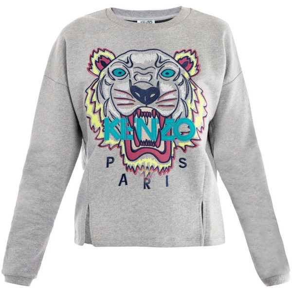 Kenzo Tiger embroidered sweater ($220) ❤ liked on Polyvore