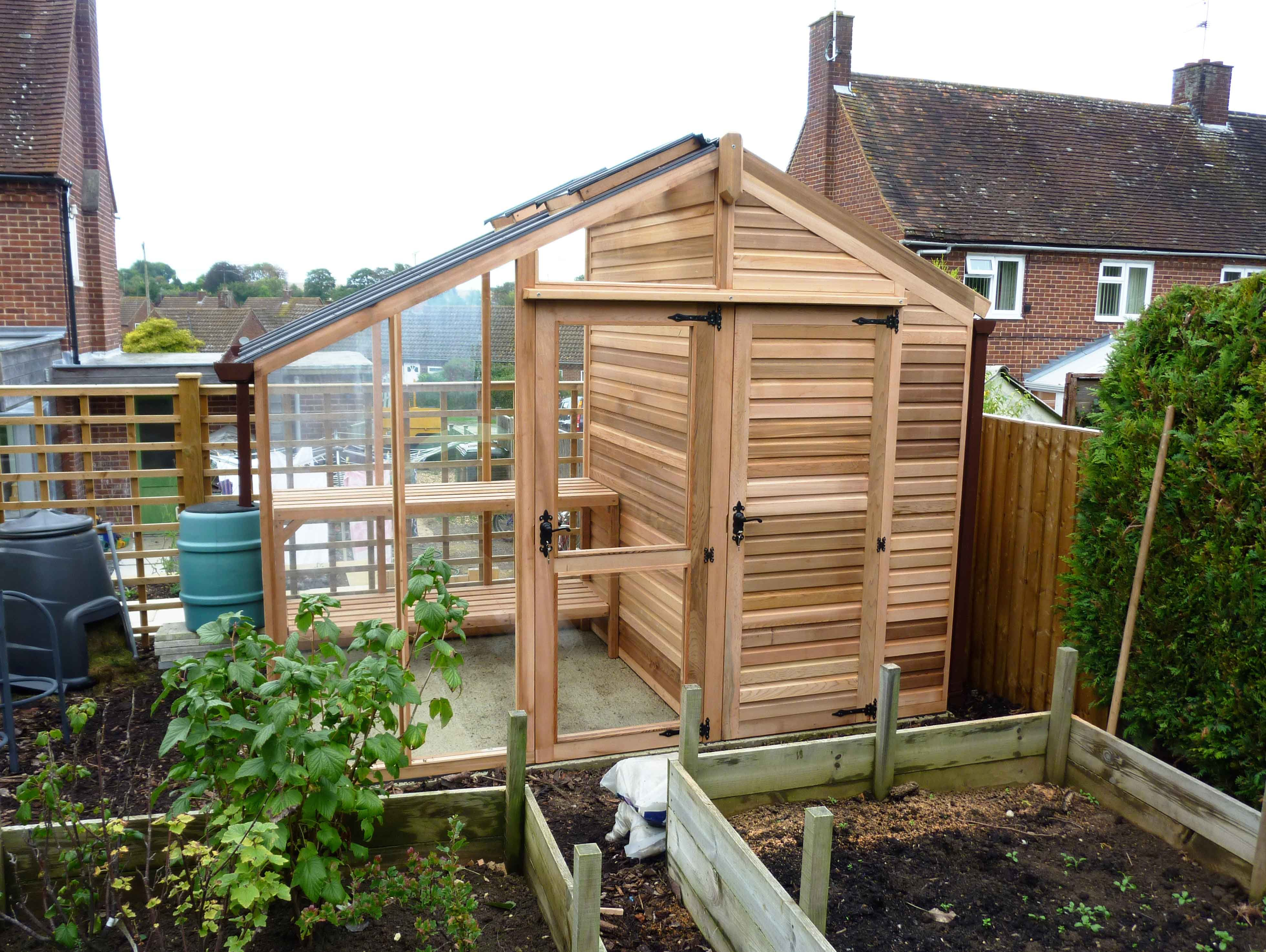 centaur shed combo greenhouse with shingle roof - Garden Sheds With Greenhouse
