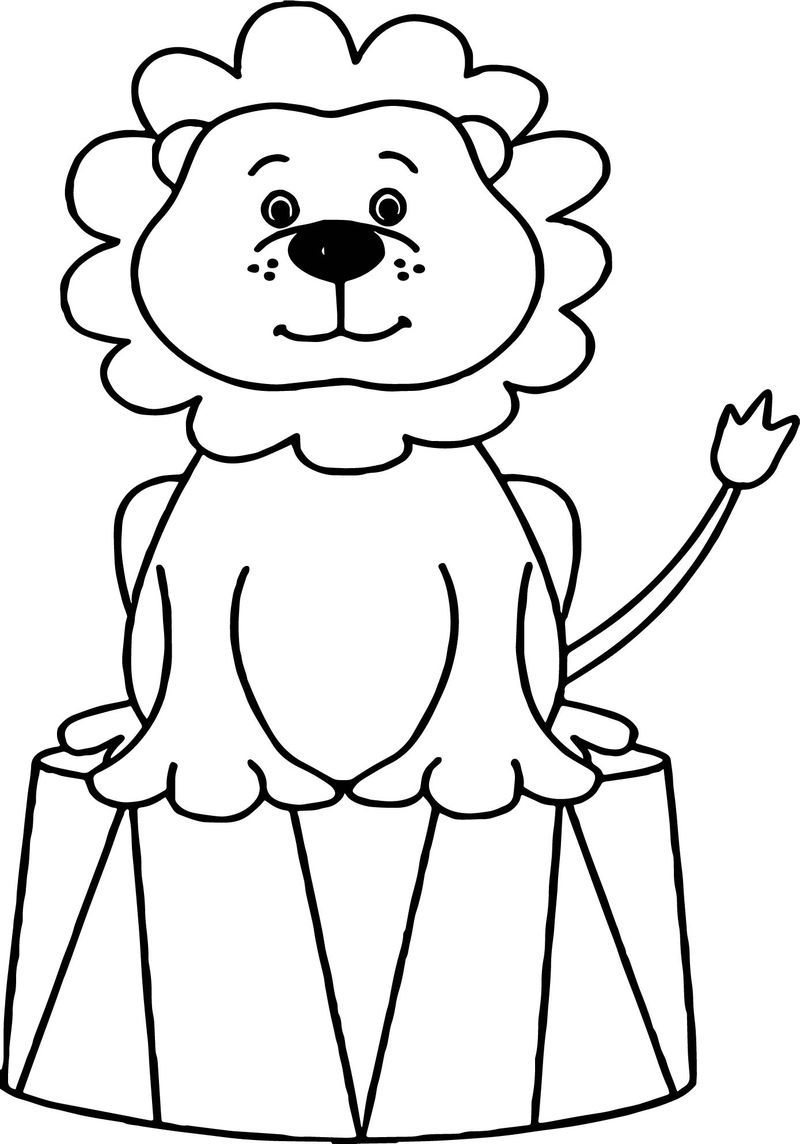 Lion Circus Animals Coloring Page Lion Coloring Pages Animal