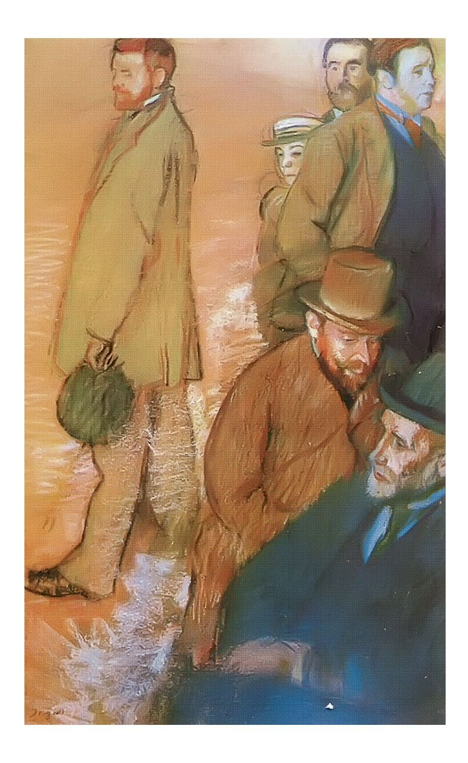 Six Friend Of The Artist By Edgar Degas Print Edgar Degas Artist