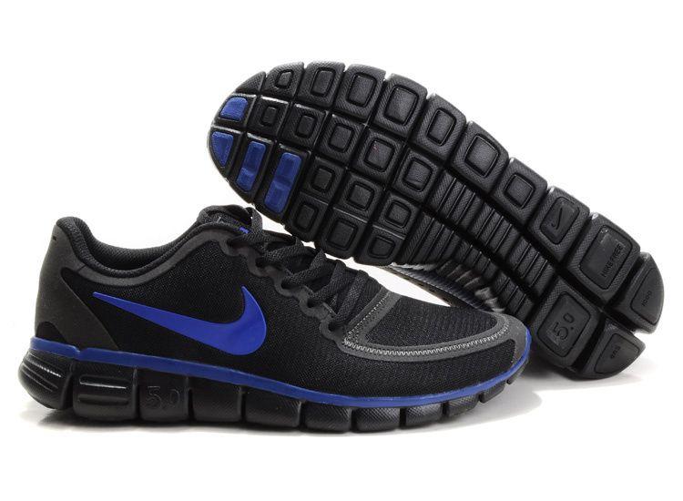 Wholesale Nike Free 5.0 V4 Mens Black Treasure Blue 511282 019 · Nike Shoes  CheapNike ...