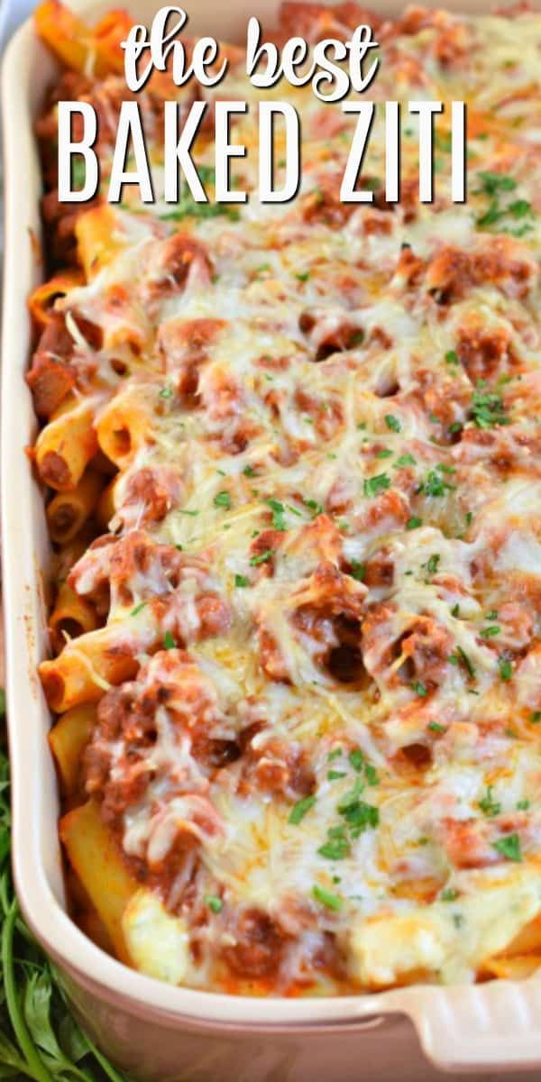 Hearty Baked Ziti Recipe made easy - Shugary Sweets