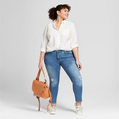 ff1efdb7 Women's Plus Size Long Sleeve Camden Button-Down Shirt - Universal Thread?  White 3X #Sleeve, #Camden, #Long