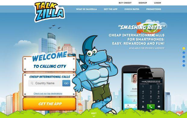 Cheap International Calls Talkzilla Webdesign