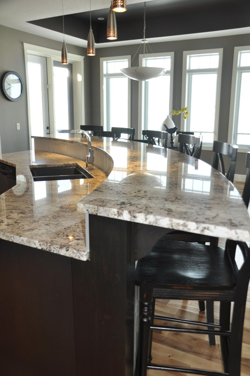 Curved Raised Eating Bar | Projects to Try | Pinterest