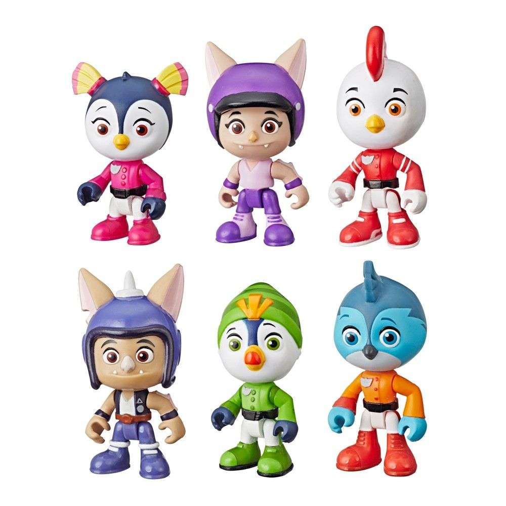 60653473a Nickelodeon Top Wing 6-Character Collection Pack, Kids Unisex, Size: Small,  Blue