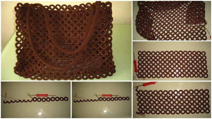 3340ffad9dc1c El örgü çanta nasıl yapılır. El örgüsü çanta modelleri ve yapılışları. Tığ  işi örgü