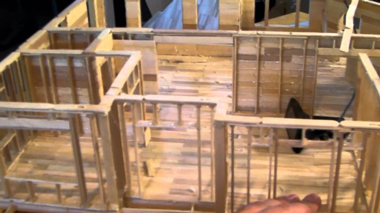 Floor Plan Popsicle House Popsicle Stick Houses Barbie Doll House