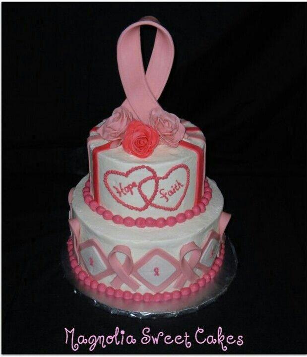 Pink Ribbon Cake Ribbon Cake Cake Pink Ribbon