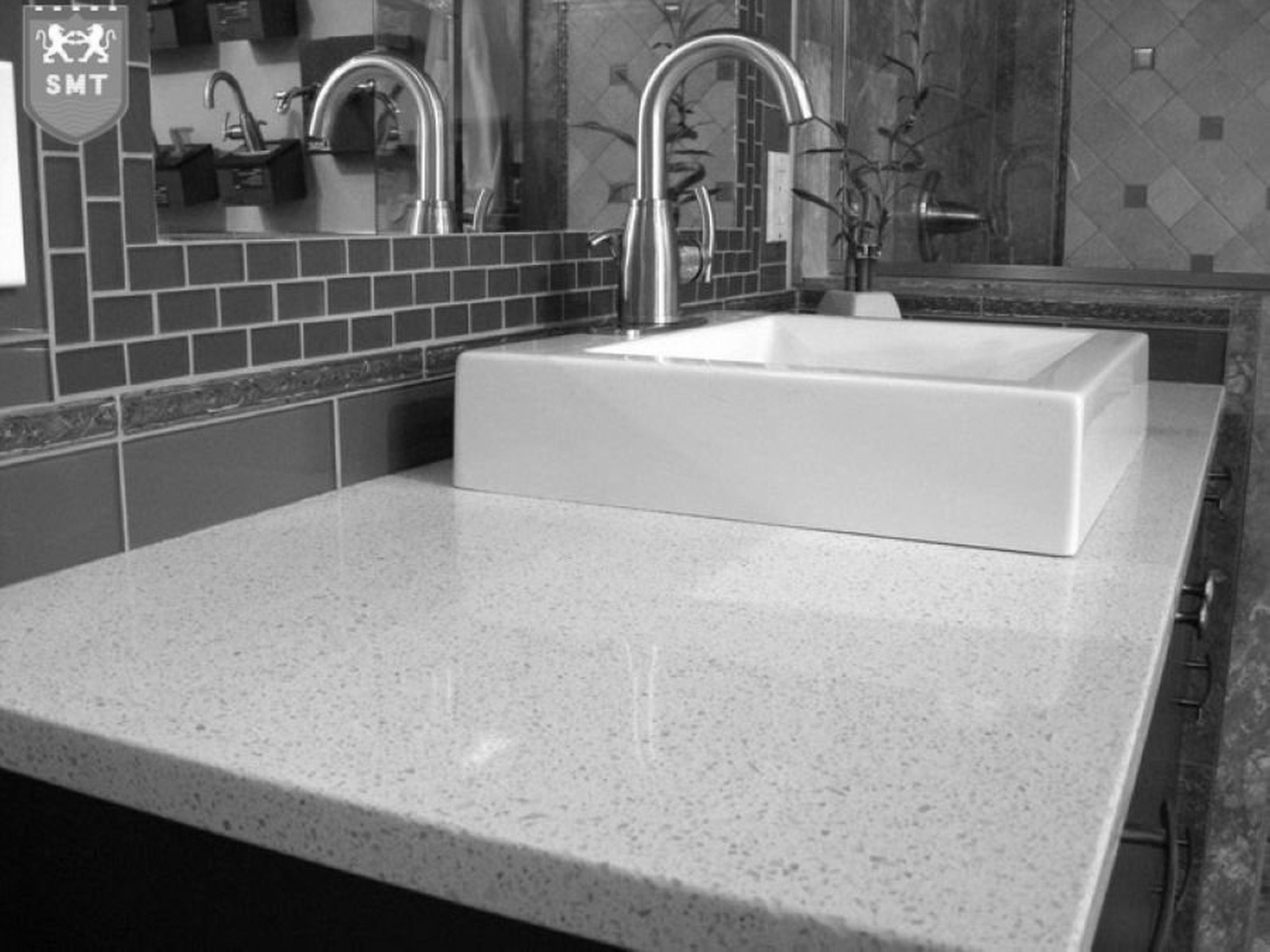 Decor Tips Great White Granite Countertops And Rectangular Sink