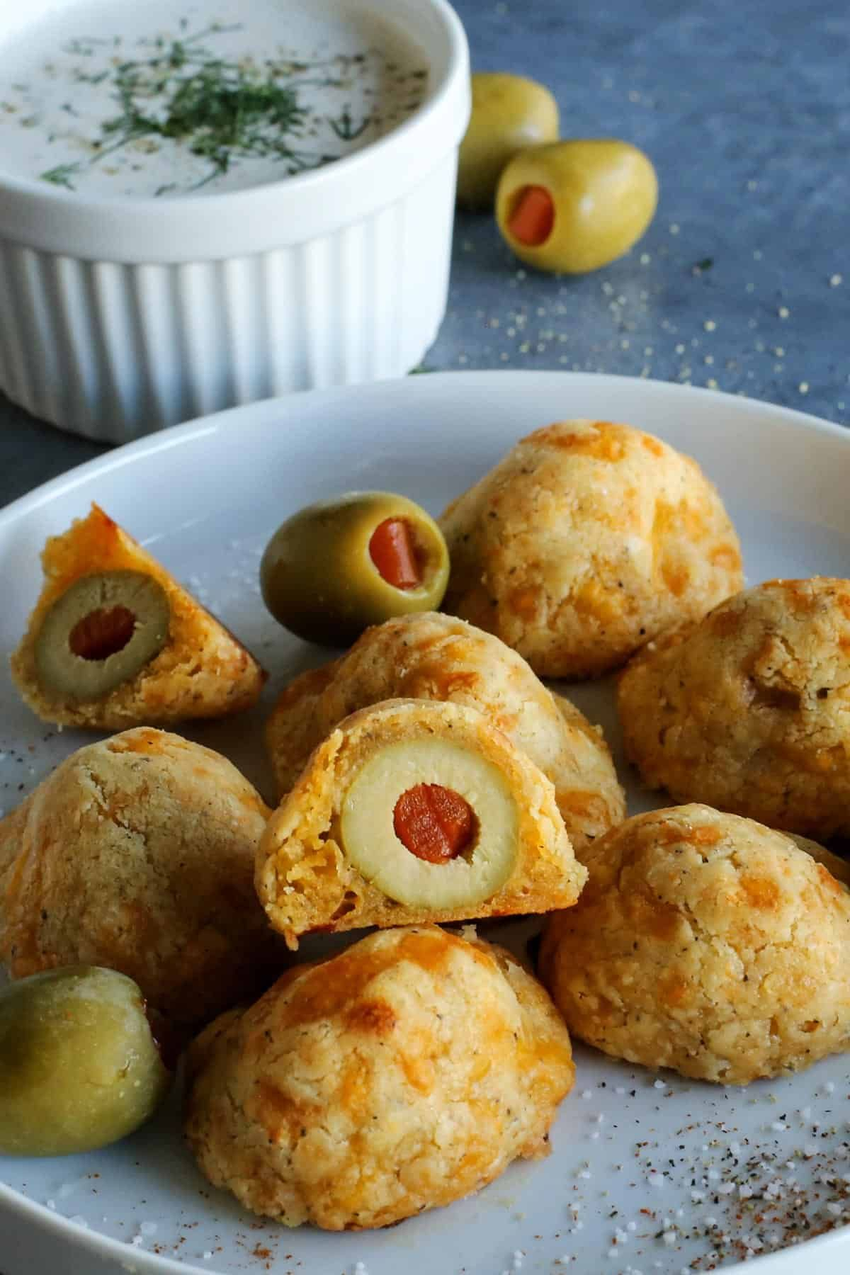 Photo of Olive Cheese Balls: an easy baked appetizer recipe, perfect for entertaining!