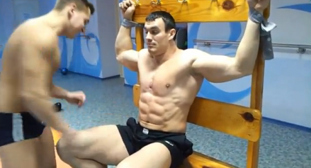 Sexy muscle wrestling