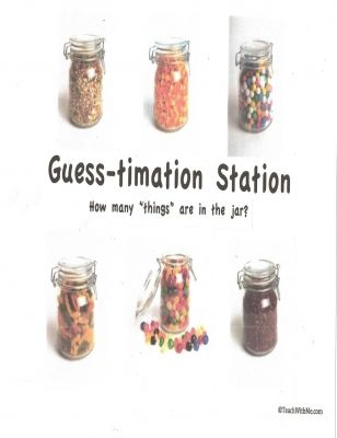 Guess Timation Jar Math Center Classroom Freebies Math Centers Math