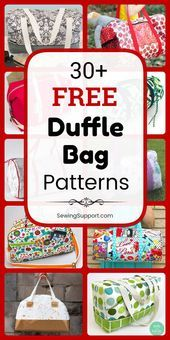 Duffle Duffle Bag DIY Over 30 free duffle bag patterns tutorials and diy sewing projects Many instructions for how to make your own duffle bag  Duffle