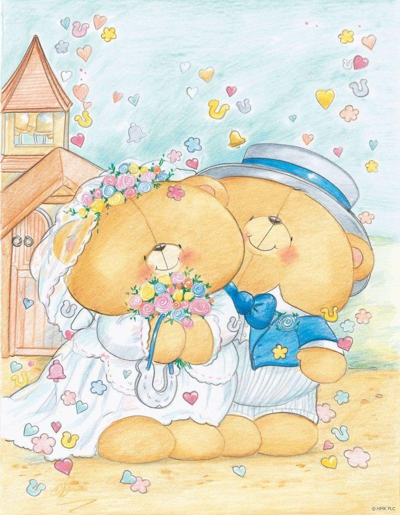 Празднику, открытки на свадьбу медведи