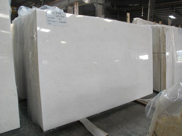 PURE WHITE MARBLE AIR KING SLAB GANGSAW White marble