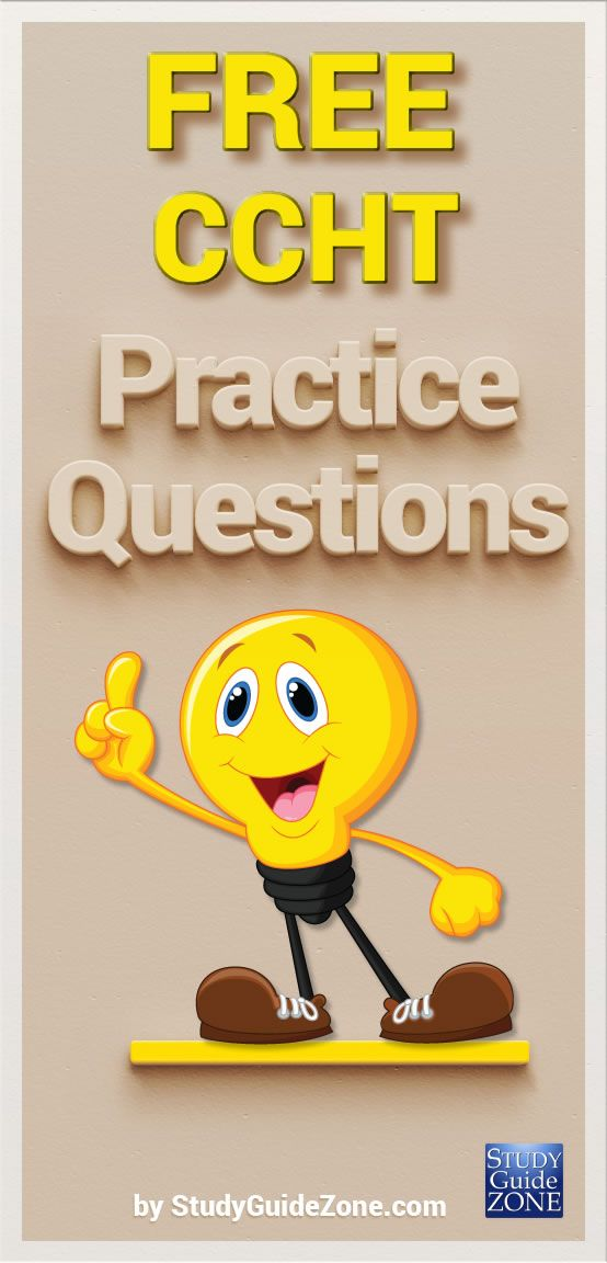 Get free CCHT practice questions and study tips to help you prep for