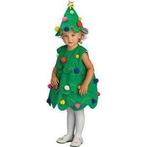 disfraz casero arbol navidad nia