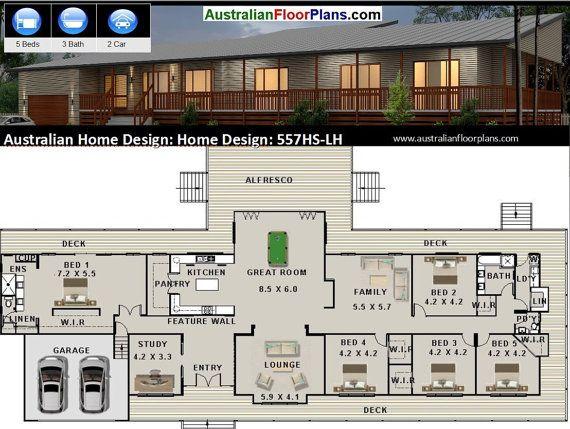 House Plan 557 5 Bedrooms Floor Plan Acreage Design Buy T In 2020 New House Plans House Plans Queenslander House