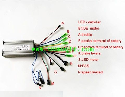 electric bike controller wiring diagram in addition electric motor rh pinterest com cycle carrier lighting board wiring kit Amp Wiring Kit