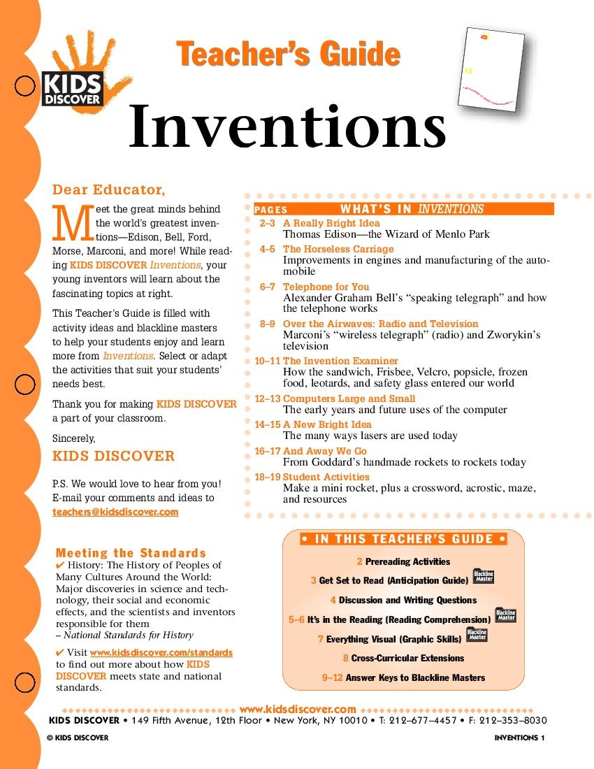 Inventions - KIDS DISCOVER register free @ Kids Discover & download for  free 6th Grade Social
